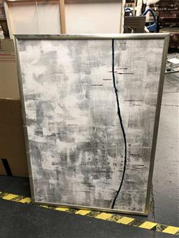 Sale 9176 - Lot 2132 - Chinese School  Abstract mixed media on canvas on board, frame: 109 x 79 cm -