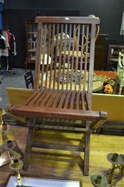 Sale 8134 - Lot 1056 - Set of 4 Folding Outdoor Chairs