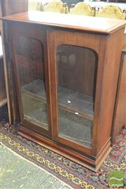 Sale 8255 - Lot 1061 - Late 19th Century Cedar & Pine Bookcase, with two glass panel doors (converted former top section)