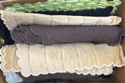 Sale 8310A - Lot 327 - A box of assorted coloured scalloped place mats, including, beige, green, browns, etc