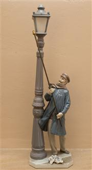 Sale 8313A - Lot 17 - A Lladro figure, The Streetlighter, F10S, height 47cm