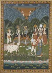 Sale 8716 - Lot 2031 - Indo Persian School - Ceremonial Scene 116.5 x 83cm