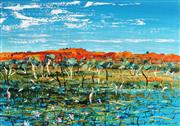 Sale 8799 - Lot 505 - Peter McQueeny (1941 - ) - Marshes 49 x 69.5cm