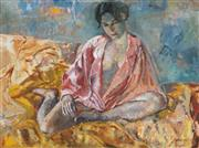 Sale 8907 - Lot 535 - Judy Cassab (1920 - 2015) - The Pink Dressing Gown, 1998 76.5 x 95 cm