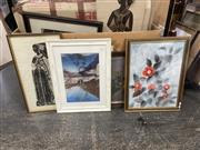 Sale 9087 - Lot 2073 - A quantity of assorted early and modern artworks, including decorative prints.
