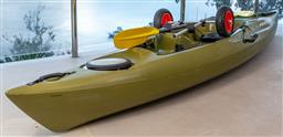Sale 9162H - Lot 220 - An emotion kayaks Mojo Angler in olive green with Boréal design paddle, Length approx 380cm