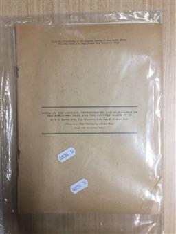 Sale 9152 - Lot 2420 - Collection of Notes on the Geology , Physiography & Glaciology of Kosciusko Area