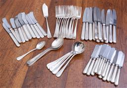 Sale 9190H - Lot 186 - An incomplete set of silverplated cutlery for twelve persons.