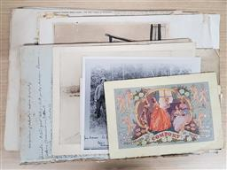 Sale 9180 - Lot 2083 - Collection of Ephemera incl. Prints, Clippings, Notes, etc