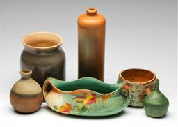 Sale 9190 - Lot 82 - A collection of studio pottery (H of tallest:29cm)