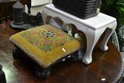 Sale 7987A - Lot 1159 - Early Footstool on Paw Feet with Later Example