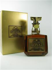 Sale 8329 - Lot 577 - 1x Suntory 15YO Royal Blended Japanese Whisky - 750ml in box