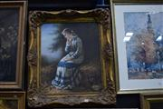 Sale 8410T - Lot 2014 - After D. S Hory - The Young Girl Contemplating 80 x 70cm (frame size)