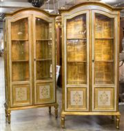 Sale 8516A - Lot 38 - A matching pair of exquisite giltwood & embossed / hand finished Florentine showcases, constructed from European beechwood in except...