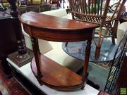 Sale 8566 - Lot 1351 - Half Moon Occasional Table