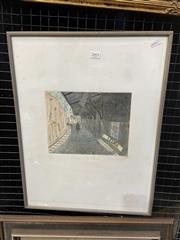 Sale 9016 - Lot 2003 - Peter Kingston, Brave and Cruel, 1992 colour etching (AF), ed. 13/50, frame: 55 x 42 cm, signed and dated lower right