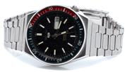 Sale 9046 - Lot 533 - A VINTAGE SEIKO 5 SPORTS AUTOMATIC WRISTWATCH; ref; 6309-836B, in stainless steel with black dial, applied markers center seconds, d...