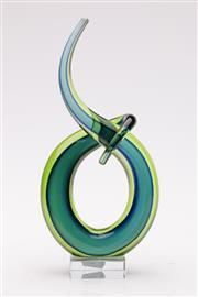 Sale 9057 - Lot 21 - Murano style three colour Sommerso free form glass sculpture (H27cm)