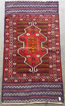 Sale 9151 - Lot 1358 - Handknotted pure wool Persian baluchi ( 155 x 80cm)
