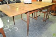 Sale 8260 - Lot 1051 - 1960s Draw Leaf Table on tapering legs