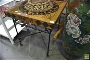 Sale 8299 - Lot 1055 - Side Table with Compass Decoration
