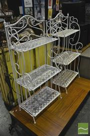 Sale 8368 - Lot 1035 - Pair of Metal Garden Stands