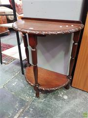 Sale 8566 - Lot 1319 - Half Moon Occasional Table