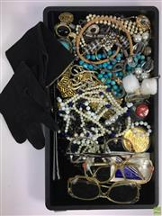 Sale 8648A - Lot 176 - Collection of Costume Jewellery inc Glasses and Gloves