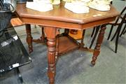 Sale 8115 - Lot 1401 - Octagonal table w Pierced Base