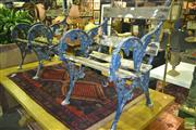 Sale 8227 - Lot 1025 - Pair of Rustic Outdoor Armchairs