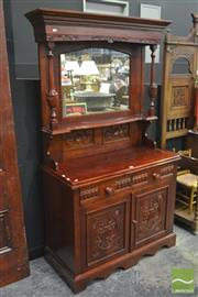 Sale 8338 - Lot 1123 - Small Timber Sideboard with Mirrored Top