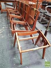 Sale 8435 - Lot 1089 - Set of Five Snelling Chair Frames and Footstool