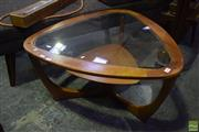Sale 8550 - Lot 1004 - G-Plan Teak Coffee Table with Glass Top