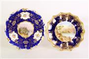 Sale 8935 - Lot 72 - An Aynsley display plate, together with a Coalport example, both signed
