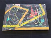 Sale 8969 - Lot 2047 - Louise Taylor Abstract acrylic on canvas, 45 x 69cm, signed verso