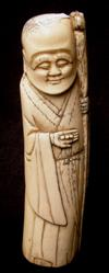 Sale 7746 - Lot 12 - Ivory Hollow Figure of an Immortal