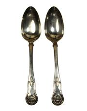 Sale 7937 - Lot 73 - Scottish Hallmarked Sterling Silver Pair of Serving Spoons