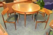 Sale 8235 - Lot 1037 - G Plan Teak Table and 4 Chairs