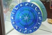 Sale 8340 - Lot 33 - Lincoln Kirby Bell Studio Pottery Aquatic Themed Platter on Stand