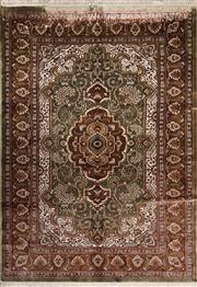Sale 8447C - Lot 24 - Indian Silk & Wool 215cm x 153cm