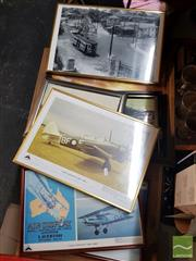 Sale 8548 - Lot 2099 - Collection of Framed Photos incl Trains & Aircraft