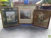 Sale 8561 - Lot 2029 - 3 x Landscape Watercolours inc Dorothy Whitten?