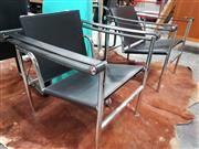 Sale 8740 - Lot 1496 - Good Pair of LC1 Chairs (manufacturer unknown)