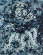 Sale 8753A - Lot 5015 - David Boyd (1924 - 2011) - Dance of the Robes, 1963 51 x 41cm