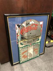 Sale 8845 - Lot 2095 - Jason Bright Holden Racing Team & Coca Cola Mirror (2)