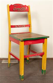 Sale 8871H - Lot 76 - An Arnotts courtesy chair with original paint and patina from circa 1930s, Height of back 94cm