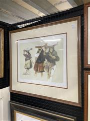 Sale 8998 - Lot 2044 - A signed editioned lithograph by Rolf Gfeller, 66 x 75cm (frame) signed