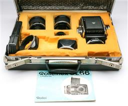 Sale 9175 - Lot 215 - A Rolleiflex SL66 Camera With Three Zeiss Lenses & Accessories In Case