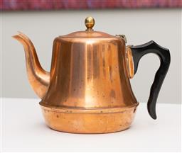 Sale 9248H - Lot 195 - An antique copper teapot with bakelite handle and brass finial