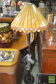 Sale 8277 - Lot 1086 - Leadlight Shade Standard Lamp